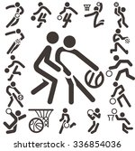 summer sports icons set  ... | Shutterstock .eps vector #336854036