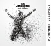 jump man vector graphics... | Shutterstock .eps vector #336854876