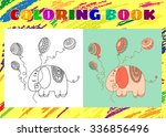Coloring Book For Kids. Sketch...
