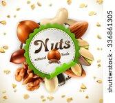 nuts  vector label | Shutterstock .eps vector #336861305