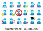 human icon set | Shutterstock .eps vector #33686305
