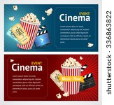 realistic cinema movie poster... | Shutterstock . vector #336863822