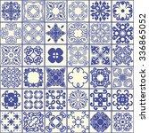 oriental pattern tile.  | Shutterstock .eps vector #336865052