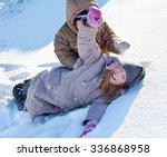 children in the snow in winter. | Shutterstock . vector #336868958