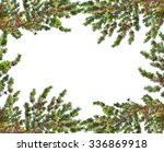 frame from pine branches with... | Shutterstock . vector #336869918