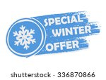 special winter offer with... | Shutterstock .eps vector #336870866