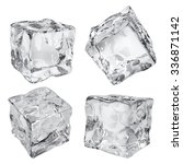 set of four opaque ice cubes in ... | Shutterstock . vector #336871142
