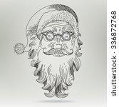 Christmas Card With Santa Claus....