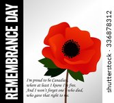 remembrance day vector template | Shutterstock .eps vector #336878312