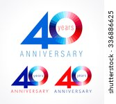 40 years old celebrating... | Shutterstock .eps vector #336886625