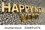 2016 text is standing among... | Shutterstock . vector #336891476