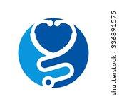 stethoscope logo vector. logo... | Shutterstock .eps vector #336891575