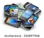 choose mobile phone. heap of... | Shutterstock . vector #336897968