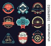 set of bicycle and bike logo set | Shutterstock . vector #336898352
