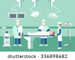 surgeons in operation theater | Shutterstock . vector #336898682