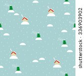 Seamless Pattern Of Cute House...
