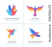 vector set of abstract gradient ... | Shutterstock .eps vector #336906125