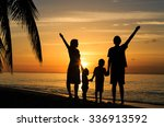 happy family with two kids... | Shutterstock . vector #336913592
