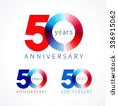 50 years old celebrating... | Shutterstock .eps vector #336915062