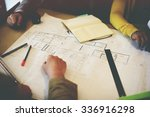 architect design project... | Shutterstock . vector #336916298