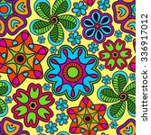 seamless pattern in  indian... | Shutterstock . vector #336917012