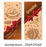 happy thanksgiving. vector... | Shutterstock .eps vector #336919268