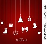 christmas background with... | Shutterstock .eps vector #336922532