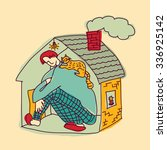 Small Home Young Man Color. Bi...