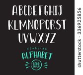 hand drawn headline alphabet.... | Shutterstock .eps vector #336925856