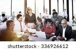 business people meeting... | Shutterstock . vector #336926612
