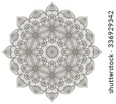 mandala. vintage decorative... | Shutterstock .eps vector #336929342