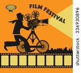 abstract film festival poster ... | Shutterstock .eps vector #336930896