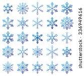 christmas blue snowflakes on... | Shutterstock .eps vector #336949616