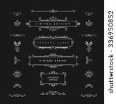 vintage design vector elements. ... | Shutterstock .eps vector #336950852