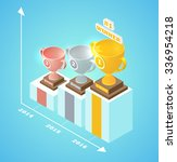 pedestal progress isometric cup ... | Shutterstock .eps vector #336954218