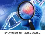 3d medical background with... | Shutterstock . vector #336960362