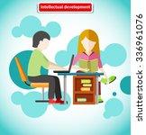intellectual development flat... | Shutterstock .eps vector #336961076