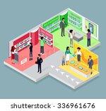 isometric 3d mobile store... | Shutterstock .eps vector #336961676