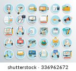 set of business promotion ... | Shutterstock .eps vector #336962672