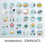 set of business promotion ... | Shutterstock .eps vector #336962672
