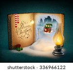 magical opened book with fairy... | Shutterstock . vector #336966122