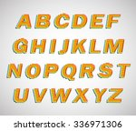 colorful lines vector font. use ... | Shutterstock .eps vector #336971306