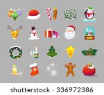 beautiful set of flat icons on... | Shutterstock . vector #336972386