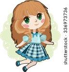 pretty anime girl | Shutterstock .eps vector #336973736