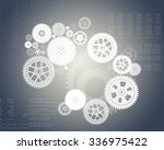 abstract grey background with... | Shutterstock . vector #336975422