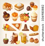 set of colorful tasty... | Shutterstock .eps vector #336980882