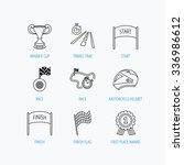 winner cup and award icons.... | Shutterstock .eps vector #336986612