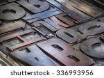 background of metallic... | Shutterstock . vector #336993956