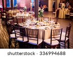 night wedding table decorated... | Shutterstock . vector #336994688