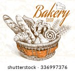 Vintage Style Bakery Basket....